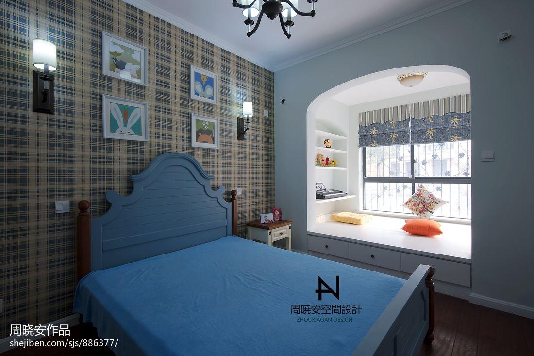 美式风格卧室背景墙装修大全潮流混搭设计图片赏析