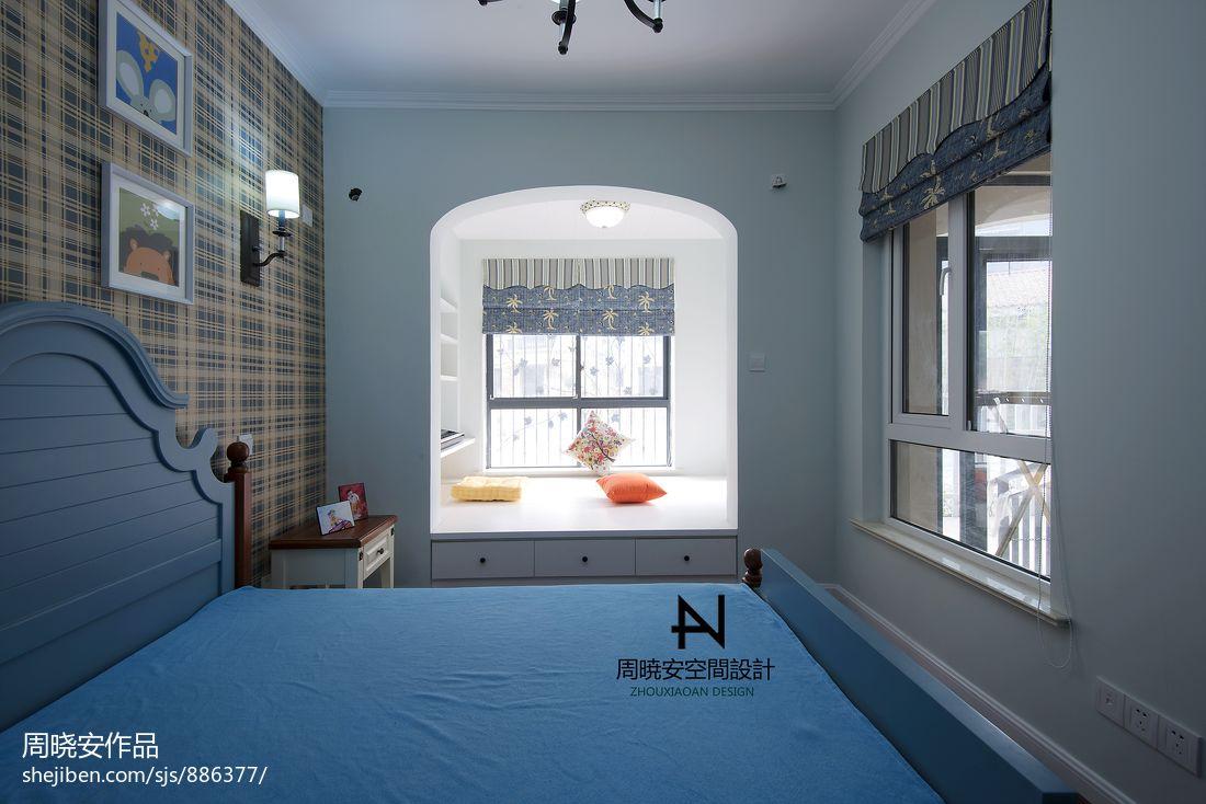 美式风格卧室窗户装修效果图卧室潮流混搭卧室设计图片赏析
