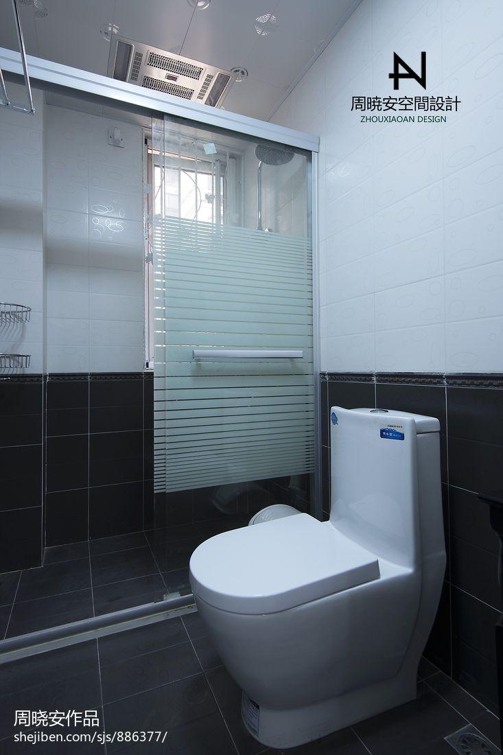 轻奢118平混搭三居卫生间实景图卫生间潮流混搭卫生间设计图片赏析