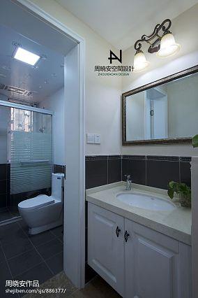 201894平米三居卫生间混搭装修图片欣赏