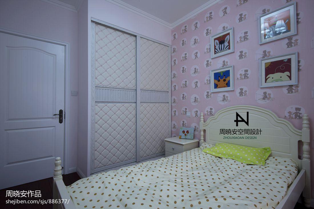 典雅89平混搭三居卧室装饰图卧室潮流混搭卧室设计图片赏析