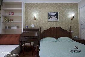 面积90平混搭三居卧室装修欣赏图