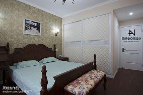 2018大小90平混搭三居卧室装修设计效果图