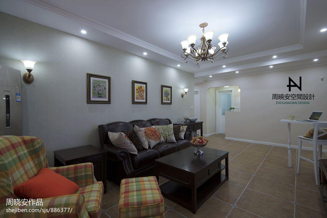 蓝山郡现代美式客厅装修效果图片客厅潮流混搭客厅设计图片赏析