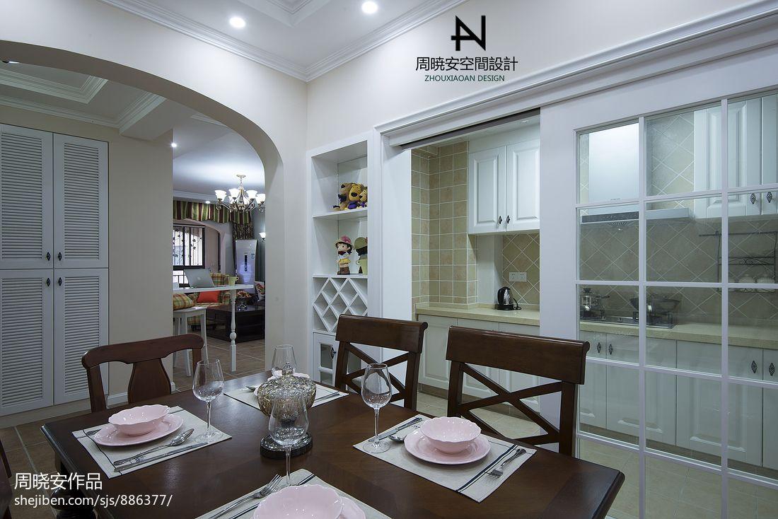 优雅78平混搭三居餐厅实拍图厨房潮流混搭餐厅设计图片赏析