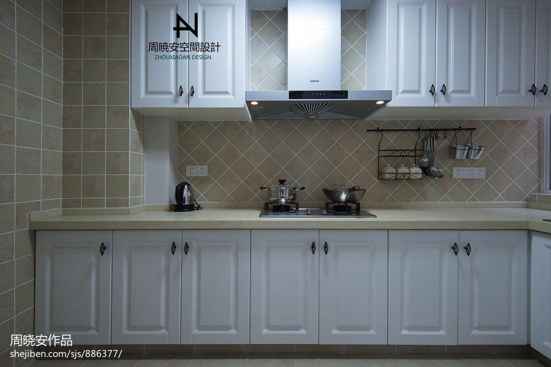 大气99平混搭三居厨房设计效果图餐厅潮流混搭厨房设计图片赏析