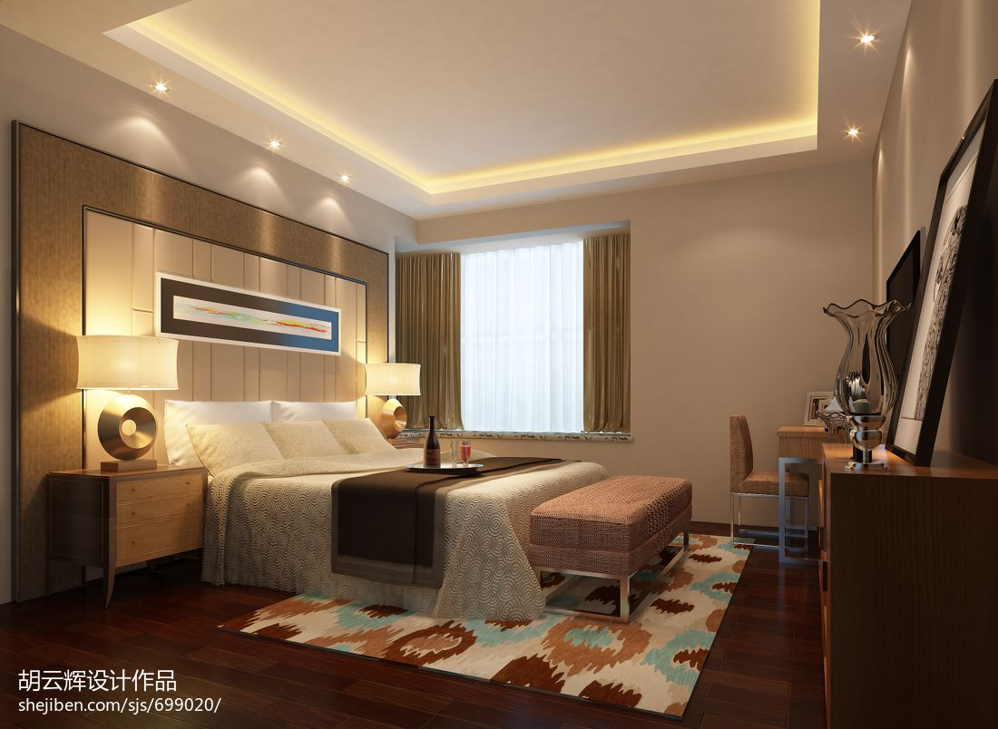 平米四居卧室混搭效果图片欣赏卧室潮流混搭卧室设计图片赏析