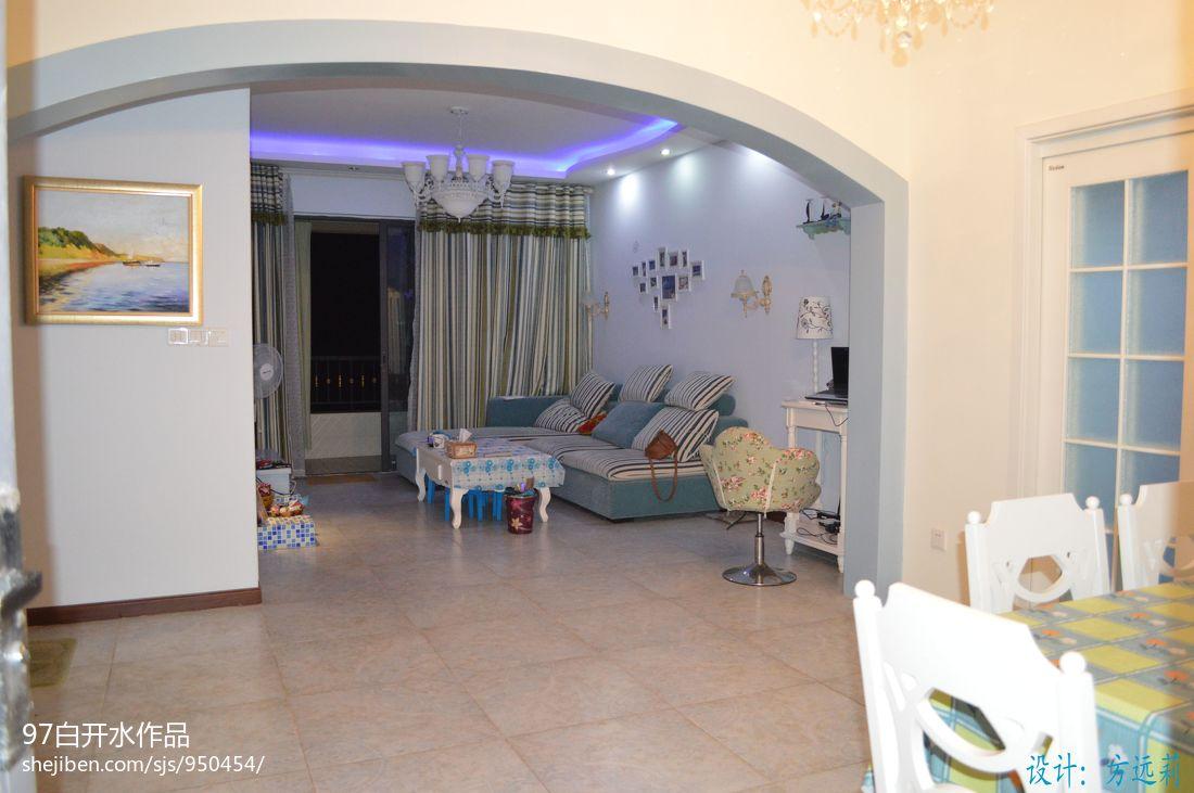 优美52平混搭二居客厅装修图客厅潮流混搭客厅设计图片赏析
