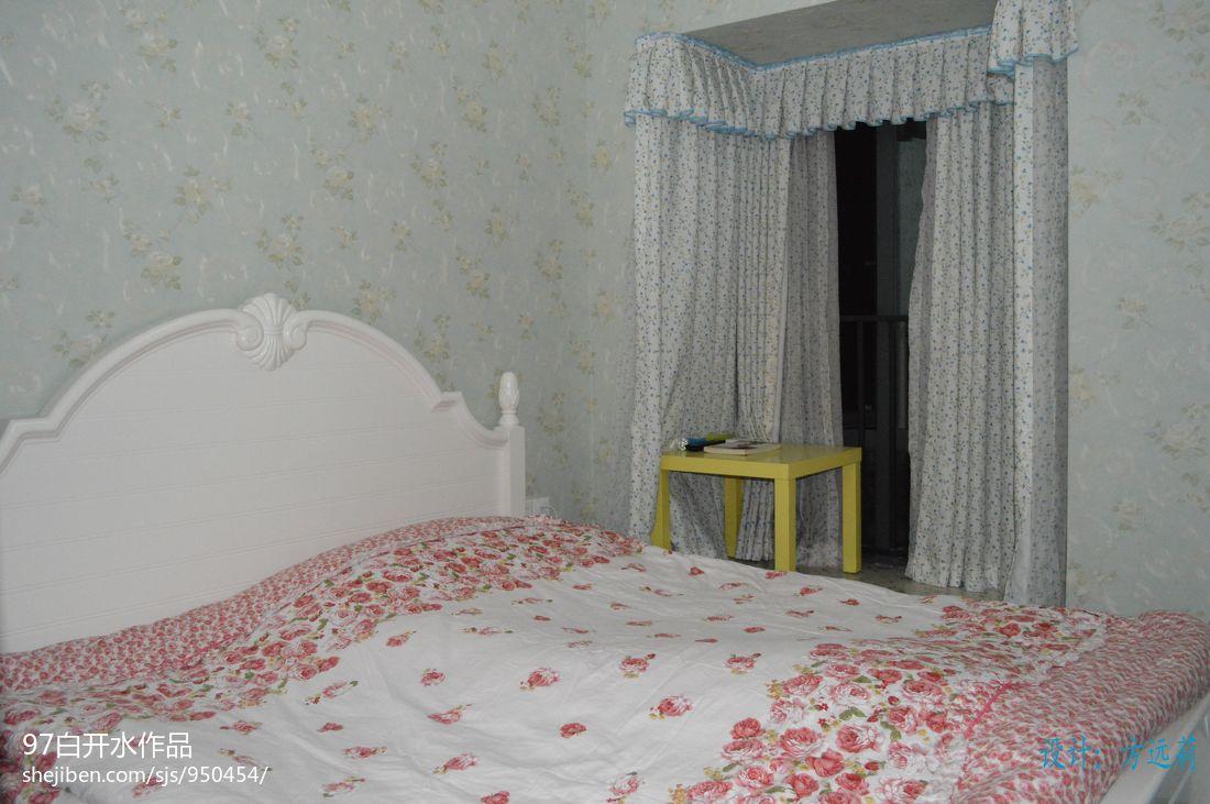 明亮68平混搭二居卧室设计图卧室潮流混搭卧室设计图片赏析