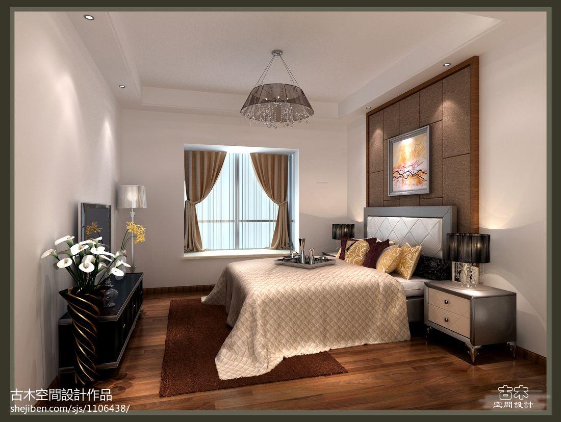 优雅87平混搭三居卧室装修案例卧室潮流混搭卧室设计图片赏析