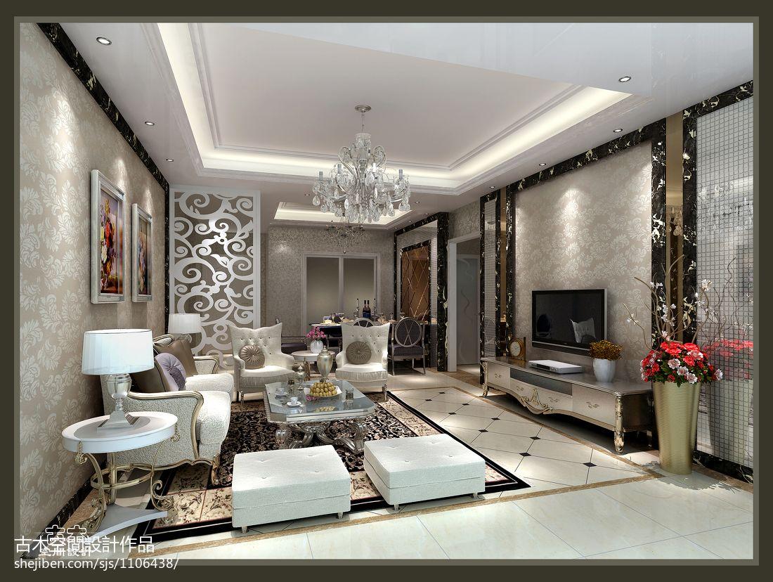 102.5平精美混搭客厅装修设计效果图片大全潮流混搭设计图片赏析