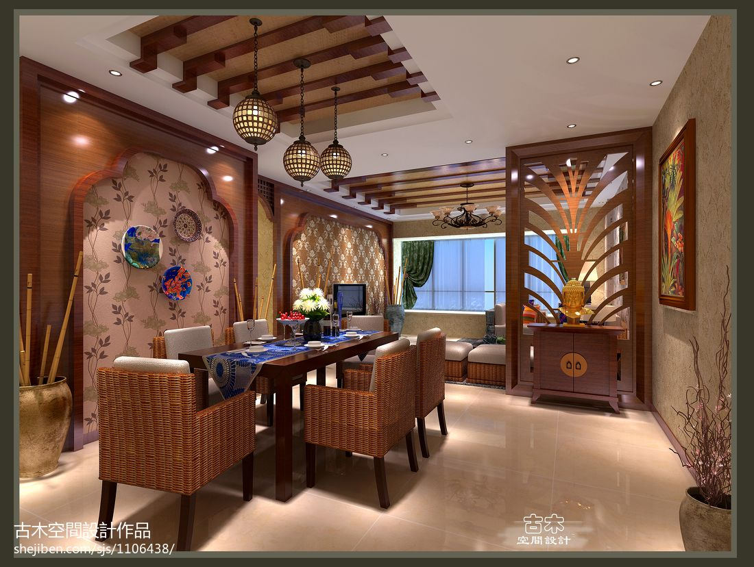 热门混搭餐厅装修效果图片厨房潮流混搭餐厅设计图片赏析