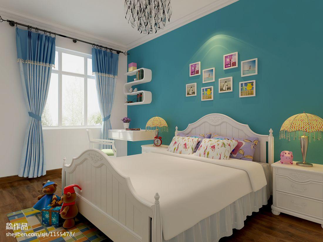 2018面积121平混搭四居儿童房装修设计效果图片大全卧室潮流混搭卧室设计图片赏析