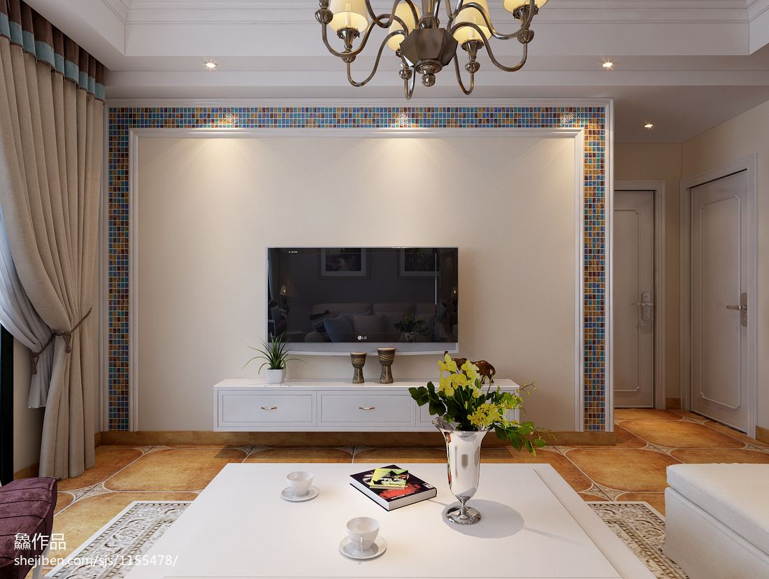 2018精选83平米混搭小户型客厅装饰图客厅潮流混搭客厅设计图片赏析