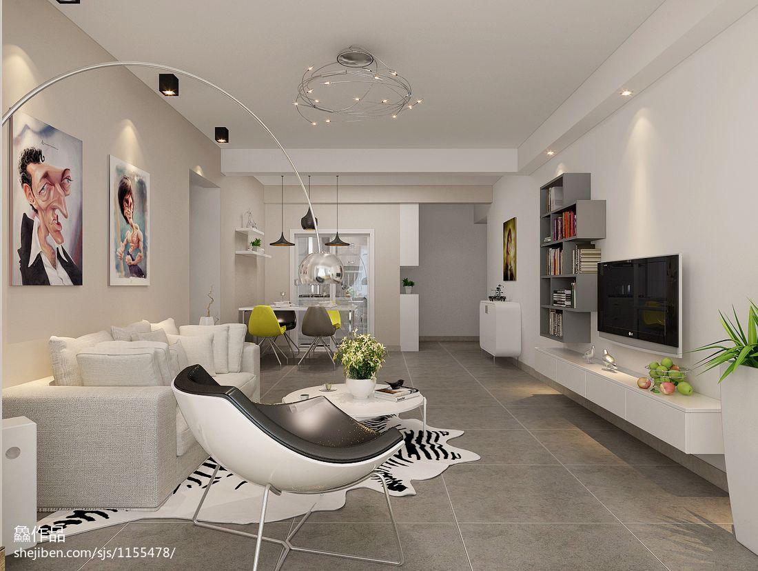 热门85平米混搭小户型客厅装饰图客厅潮流混搭客厅设计图片赏析