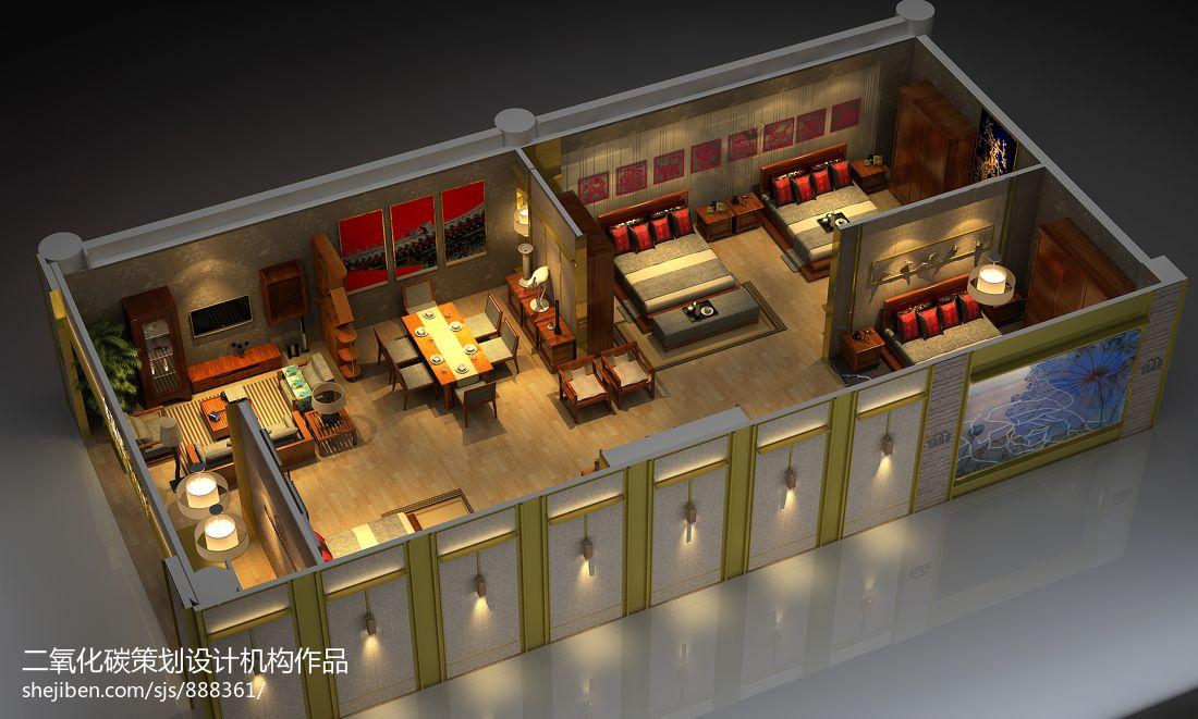 实木套房家具展览展示设计商业展示设计图片赏析