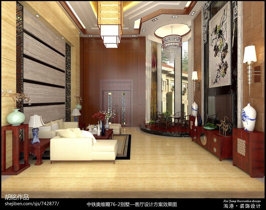 热门面积133平别墅客厅混搭装修实景图客厅潮流混搭客厅设计图片赏析