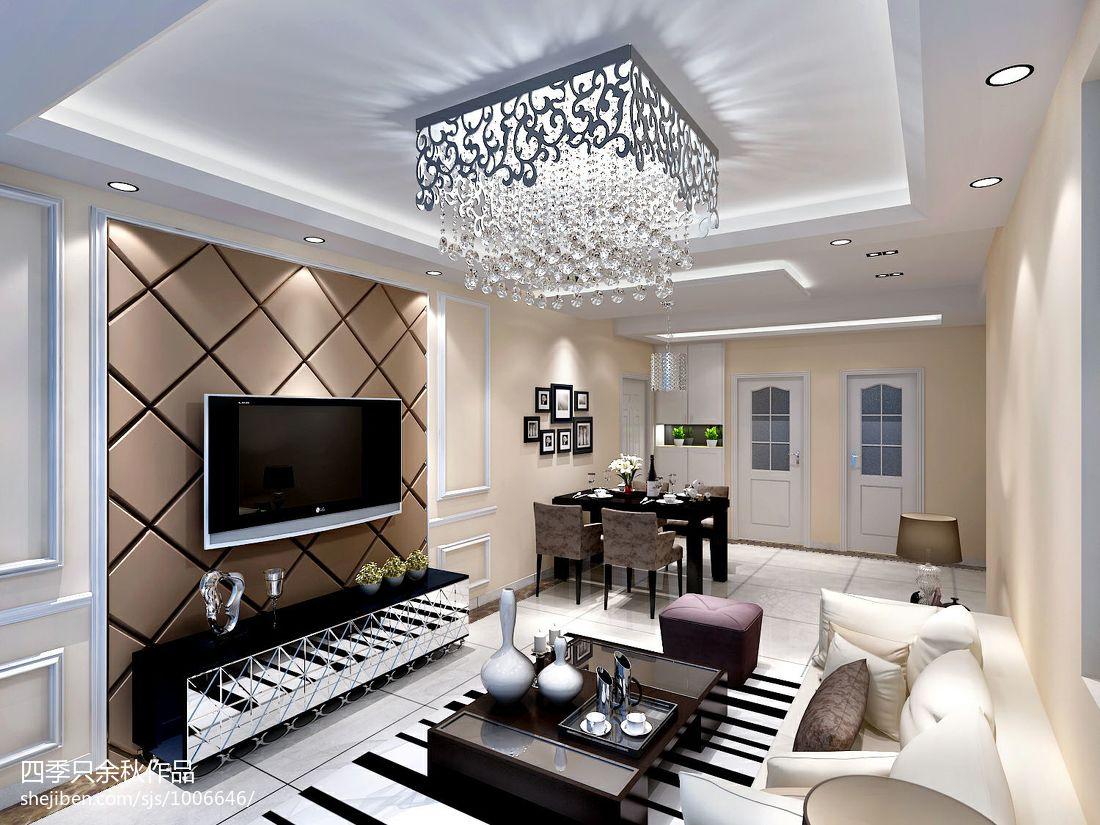 大气23平混搭小户型客厅装潢图潮流混搭设计图片赏析
