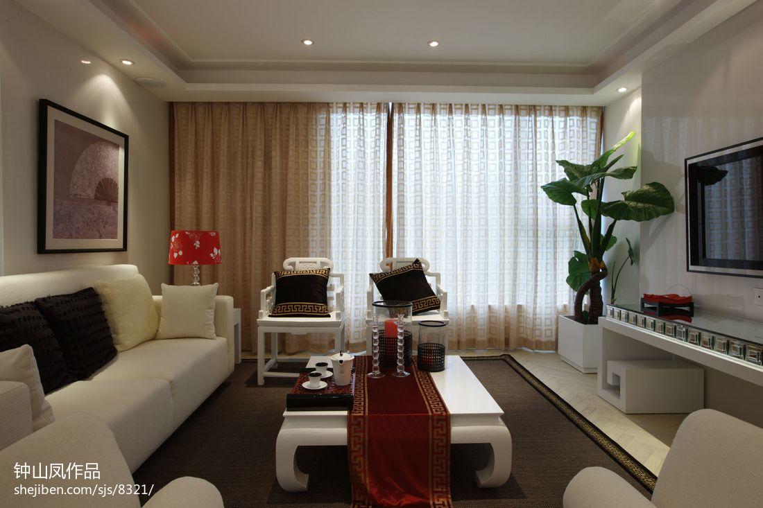 平米二居客厅混搭装修实景图客厅潮流混搭客厅设计图片赏析