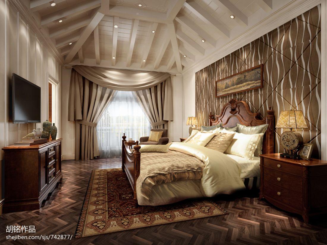 精美123平米混搭别墅卧室装饰图片欣赏卧室潮流混搭卧室设计图片赏析