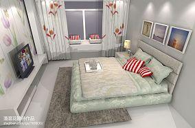 2018精选面积74平小户型卧室混搭装修实景图片