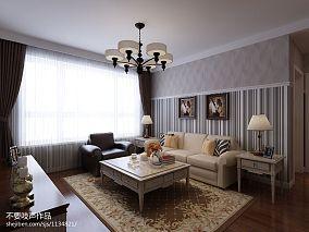 2018精选面积86平混搭二居客厅设计效果图