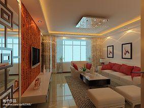 现代两室一厅精装房装修图