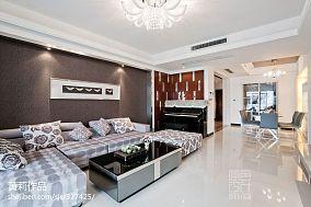 精选面积139平混搭四居客厅实景图片
