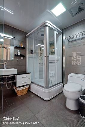 热门90平米三居卫生间混搭装修效果图片欣赏
