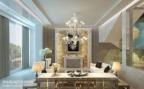简欧风格设计别墅室内电视柜装修图片