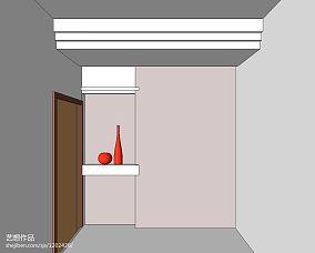 简单105平米三居室图片