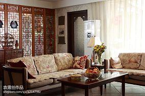 中式客厅沙发背景
