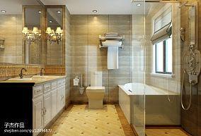 欧式新古典卫生间洗脸盆组合柜装修设计效果图