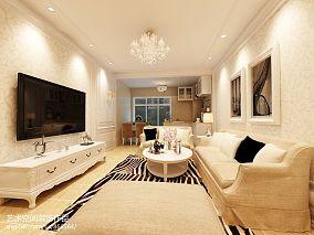精美86平米二居客厅现代装修图片大全
