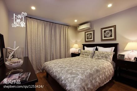 2018精选79平米二居卧室美式装修实景图片
