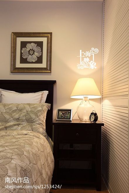 热门面积85平美式二居卧室装修效果图