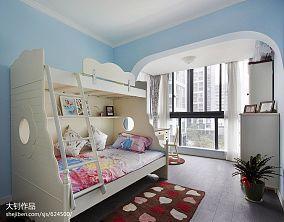 混搭双人儿童房窗帘装修设计效果图卧室