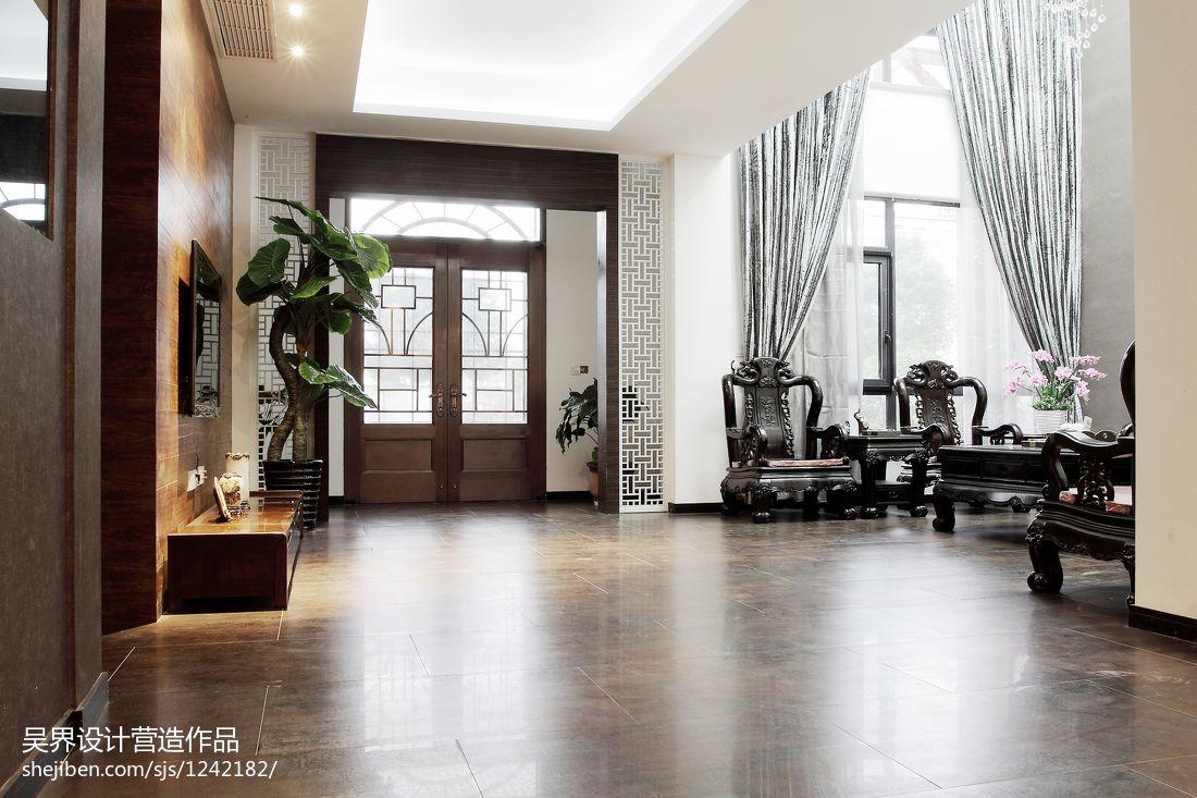 热门中式别墅客厅实景图片客厅中式现代客厅设计图片赏析