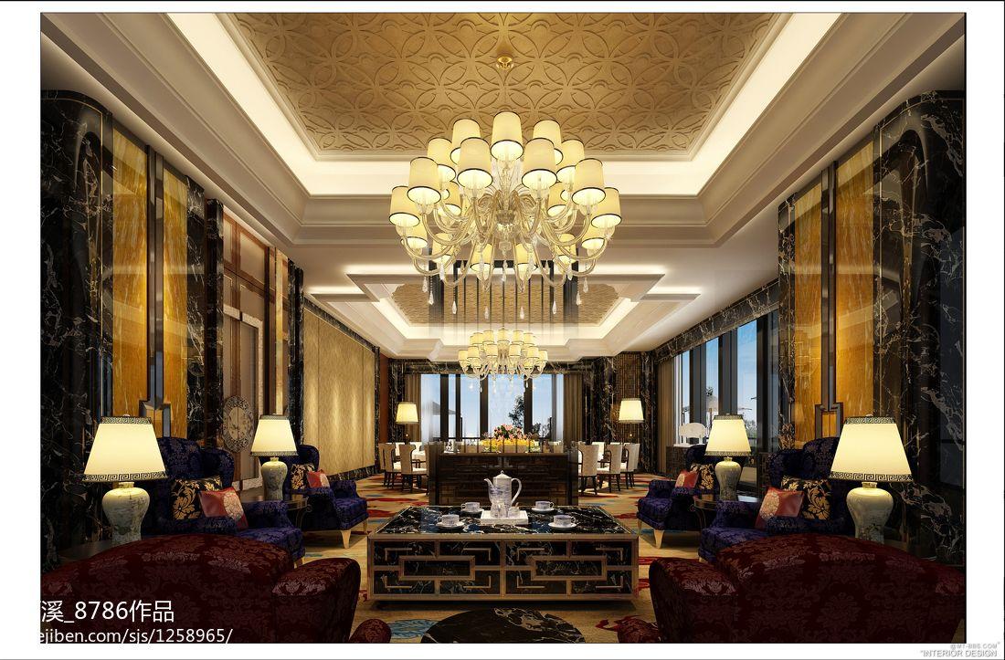 奢华尊贵酒店大厅吊顶效果图酒店空间其他设计图片赏析