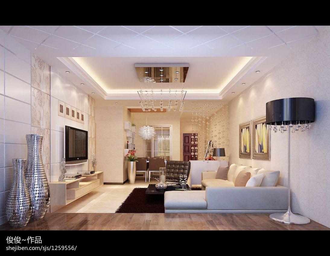 现代装修效果图片大全98平客厅现代简约客厅设计图片赏析