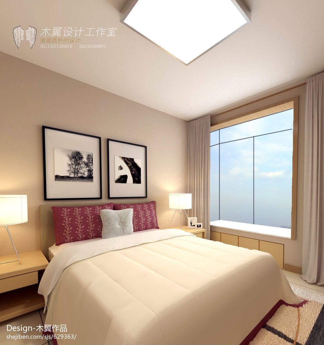 平方三居卧室现代实景图卧室现代简约卧室设计图片赏析