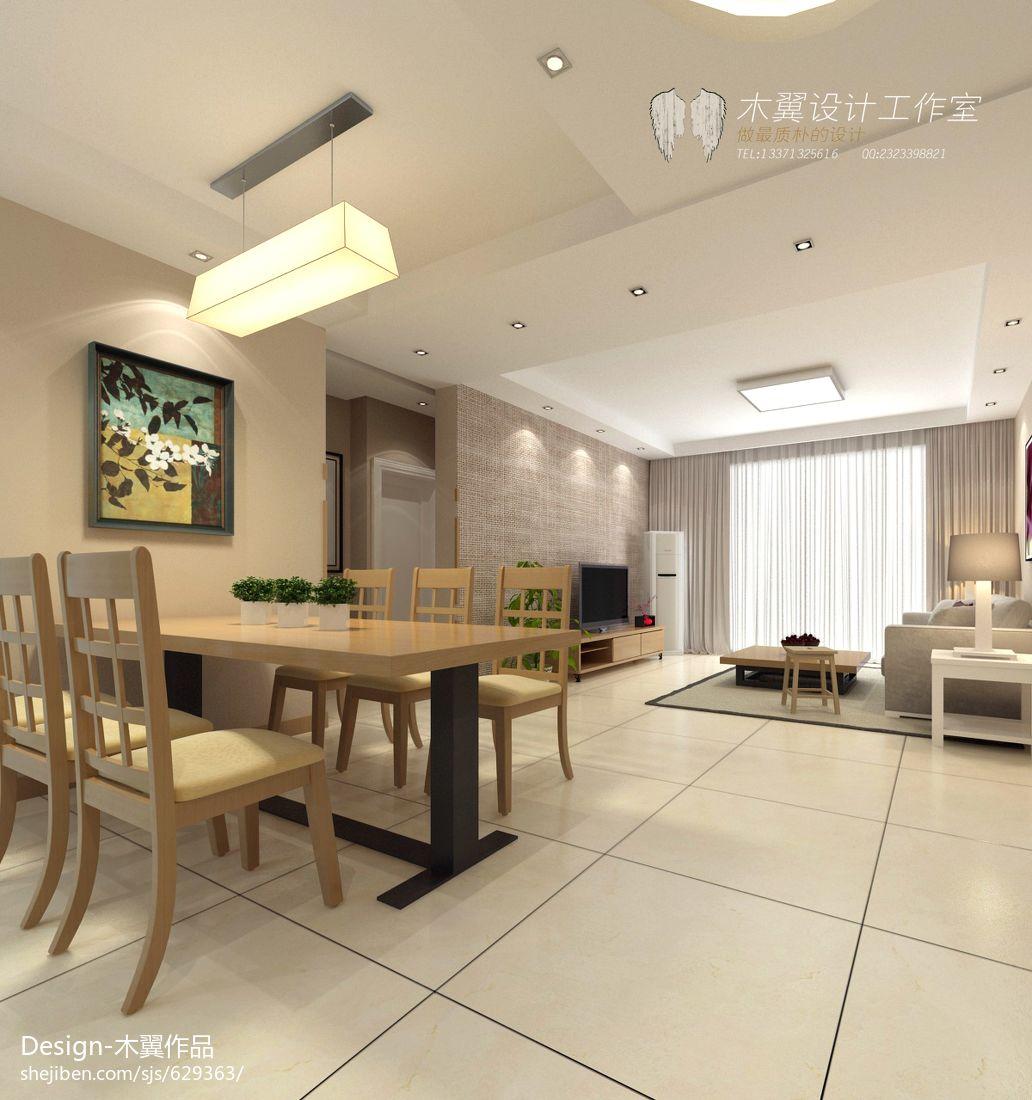 明亮107平现代三居餐厅装饰美图厨房现代简约餐厅设计图片赏析