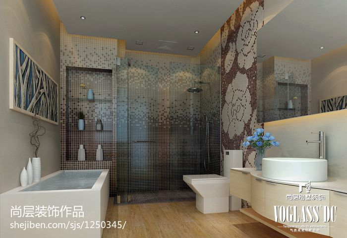 137平米欧式别墅卫生间装修效果图卫生间欧式豪华卫生间设计图片赏析