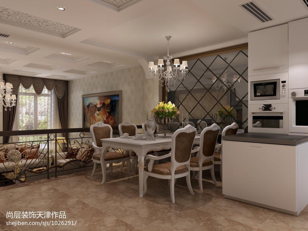 悠雅355平欧式别墅餐厅实景图厨房欧式豪华餐厅设计图片赏析