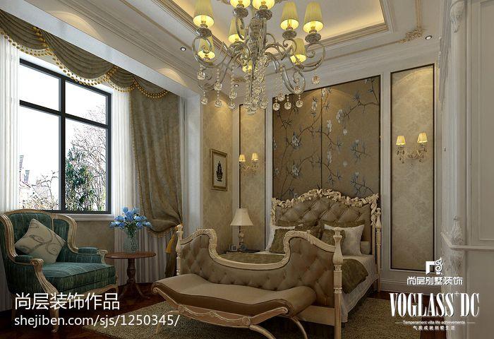 精致847平新古典别墅卧室设计案例卧室美式经典卧室设计图片赏析