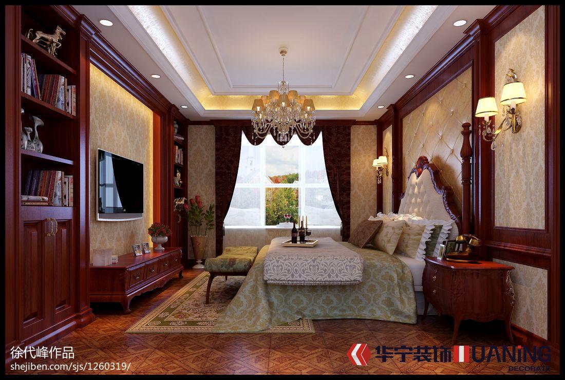 热门面积144平别墅卧室欧式装修效果图片大全卧室欧式豪华卧室设计图片赏析