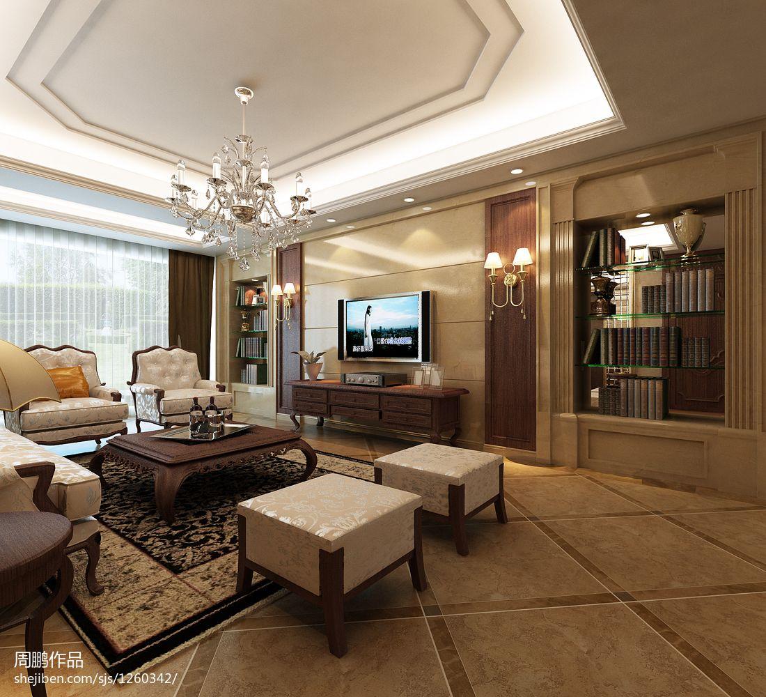 精美大小138平别墅客厅美式装修图片大全客厅美式经典客厅设计图片赏析