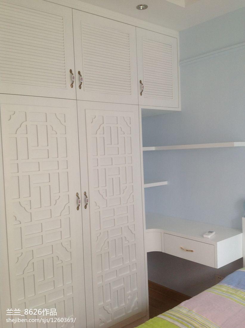 精美大小95平中式三居卧室装修设计效果图卧室中式现代卧室设计图片赏析