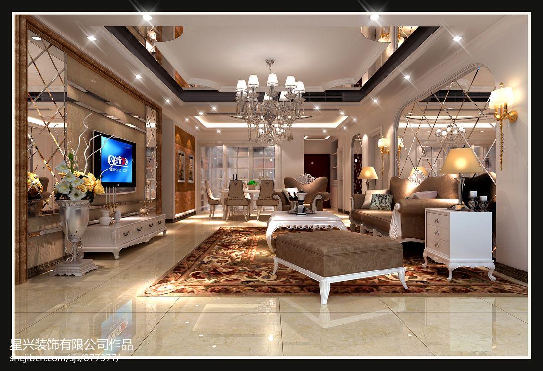 2018面积133平美式四居客厅欣赏图片客厅美式经典客厅设计图片赏析