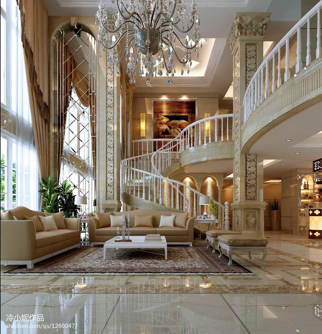 精美面积123平复式客厅欧式实景图片客厅欧式豪华客厅设计图片赏析